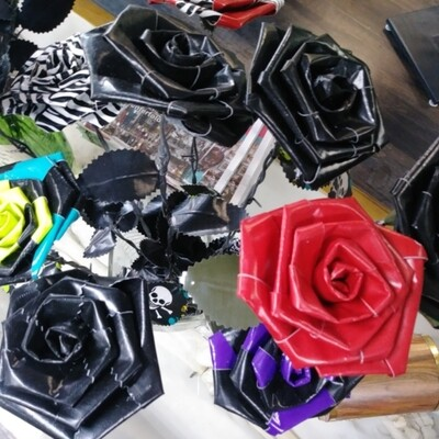 Duct Tape Roses Barb Wire Stem