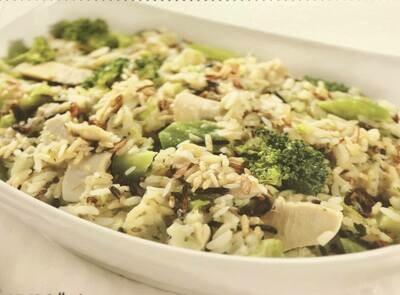 Ready to BakeChicken Broccoli and Wild Rice Casserole