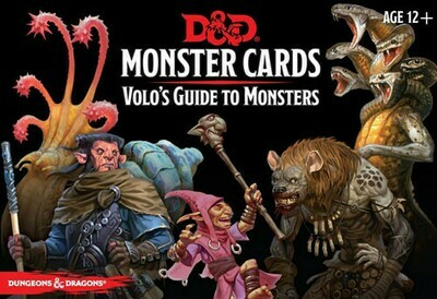 D&D Volo's Guide To Monsters Monster Cards