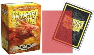Dragon Shield Matte Clear Red