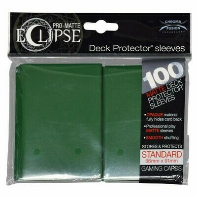 PRO MATTE ECLIPSE SLEEVES 100 COUNT DARK GREEN
