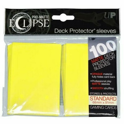 PRO MATTE ECLIPSE SLEEVES 100 COUNT YELLOW