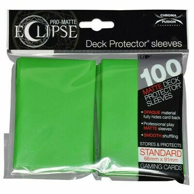 PRO MATTE ECLIPSE SLEEVES 100 COUNT GREEN