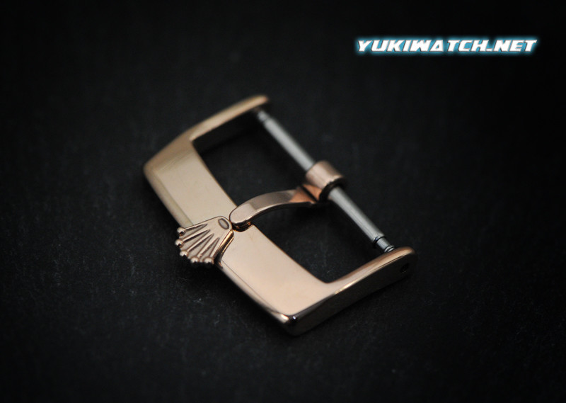 Rolex 20mm Rose Gold Plate Buckle