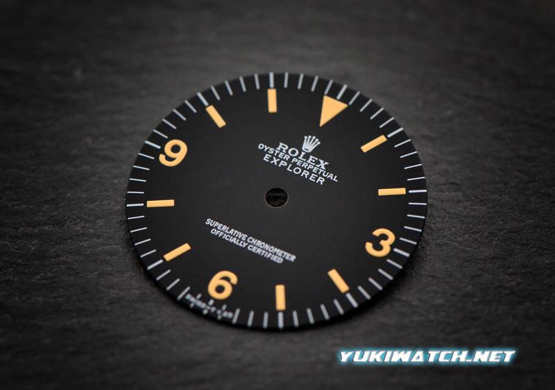 Explorer I 1016 dial yellow lume for ETA