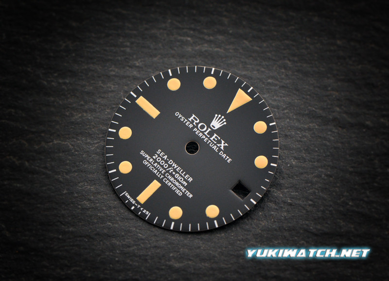 Sea-Dweller 1665 dial for ETA