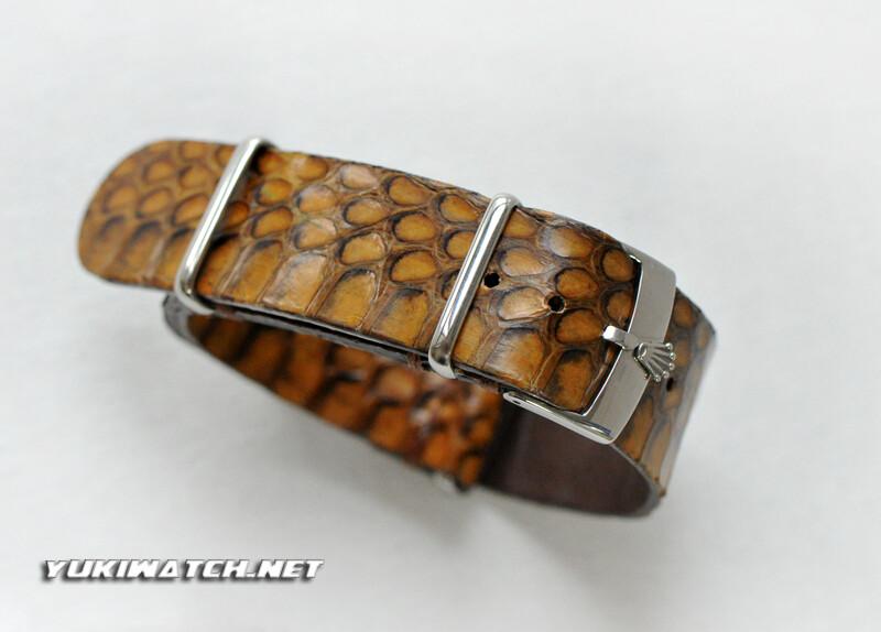 Rolex NATO handmade Snake skin strap