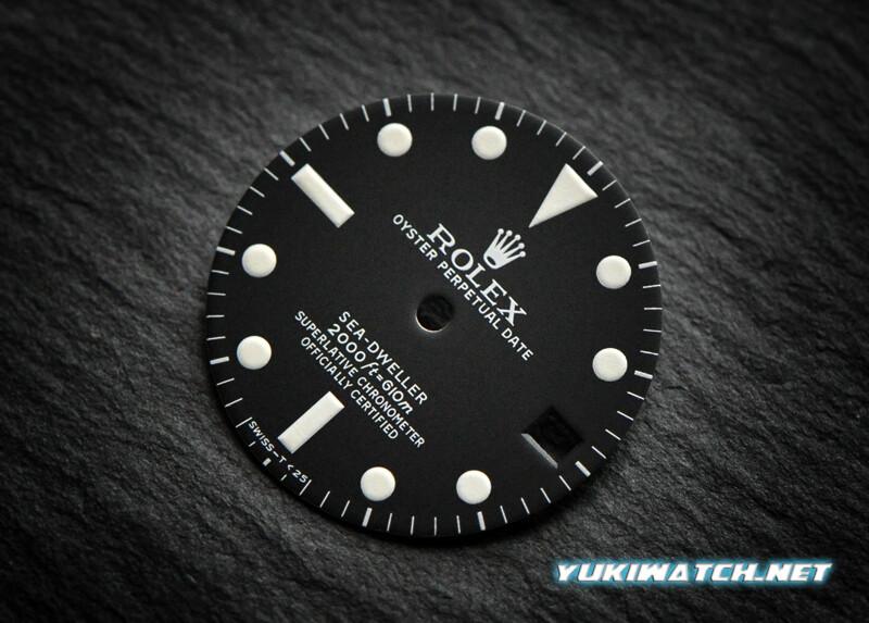 Sea-Dweller 1665 dial white lume for ETA