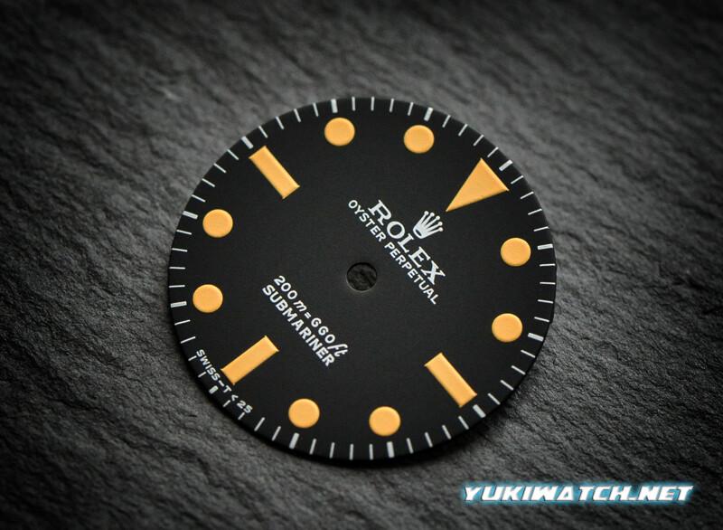 Submariner 5513 dial yellow lume for ETA