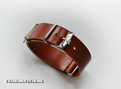 Rolex NATO handmade Italian Calfskin Honey Brown Leather Strap