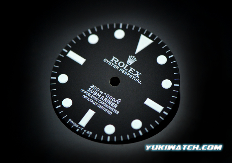 Submariner 5512 dial white lume for ETA