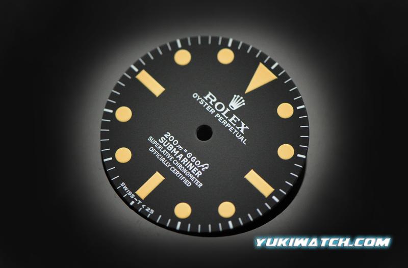 Submariner 5512 dial yellow lume for ETA