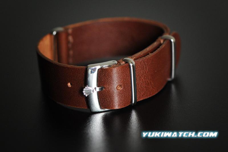 Rolex NATO handmade leather strap