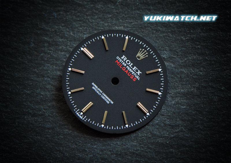 Rolex Milgauss 1019 black dial white lume