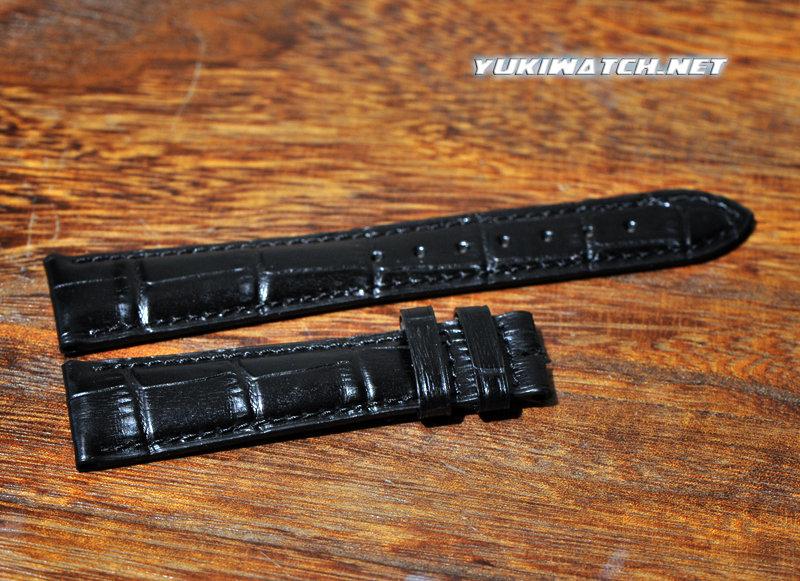 Rolex 20mm Black Leather Strap
