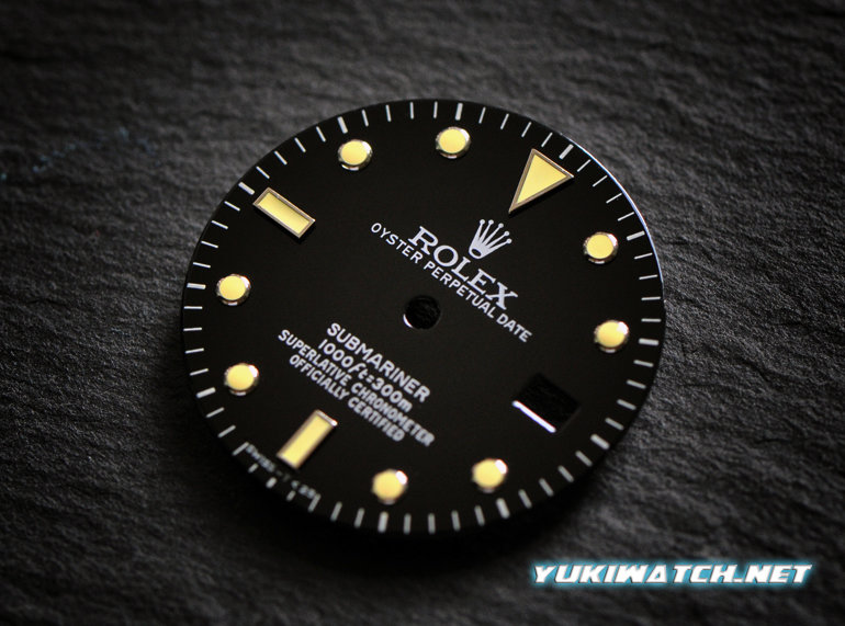 Submariner 16800/16610 dial yellow lume