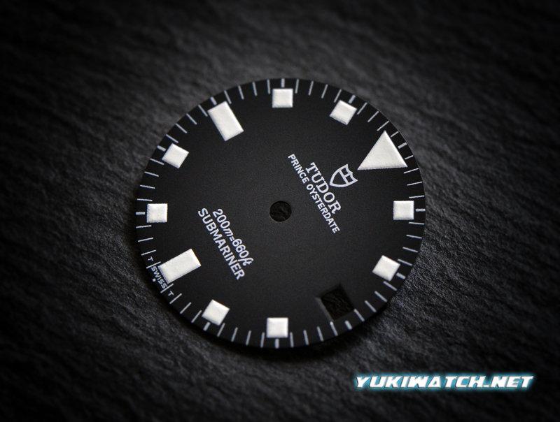 Tudor Submariner date 9411 black wht lume dial