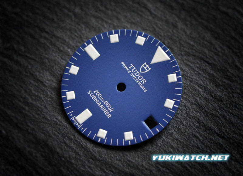 Tudor Submariner date 9411 blue wht lume dial