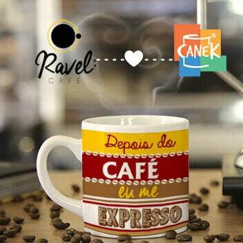 Café Filtrado da Casa 130ml +  Caneca 180ml com Arte Canek