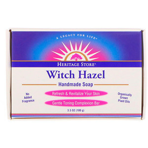 Heritage Store Witch Hazel Bar Soap - 3.5oz