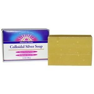 Heritage Store Colloidal Silver Bar Soap - 3.5oz
