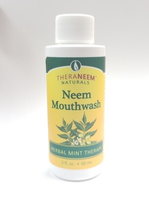 Travel Size TheraNeem Naturals Mouthwash Herbal Mint Therapy