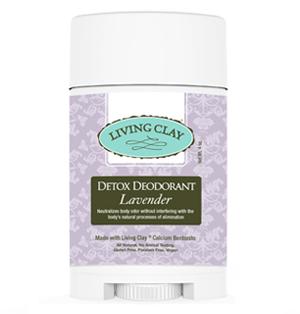 Living Clay Detox Deodorant 4oz - Lavender
