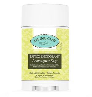 Living Clay Detox Deodorant 4oz- Lemongrass Sage