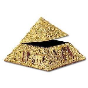 Egyptian Golden Pyramid Trinket Box