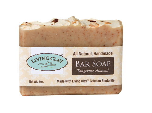 Living Clay 4oz Tangerine Almond Bar Soap