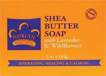 Nubian Heritage Lavender & Wildflowers Bar Soap - 1 Case (72 Bars)