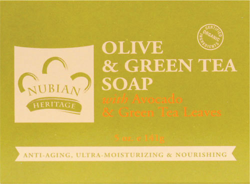 Nubian Heritage Olive & Green Tea Bar Soap  - 1 Case (72 Bars)