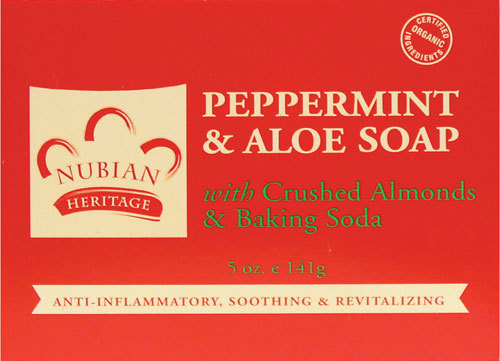 Nubian Heritage Peppermint & Aloe Bar Soap - 1 Case (72 Bars)