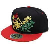 Crown Lion Rasta Snapback Cap