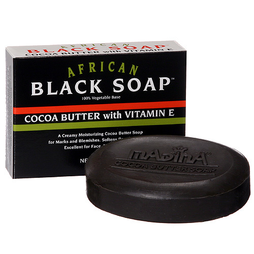 6 Pack Of African Black Soap - Cocoa Butter with Vitamin E