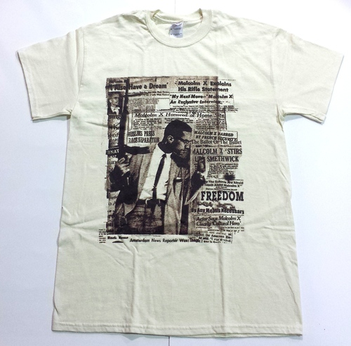 Malcolm X By Any Means Necessary Mens T-Shirt