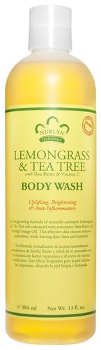 Nubian Heritage Lemongrass & Tea Tree Body Wash 13oz