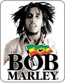 Bob Marley Sepia Logo Sticker