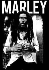 Bob Marley Marley Black And White Sticker