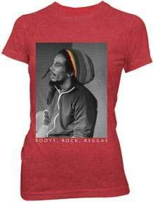 ROOTS ROCK REGGAE RASTA BEANIE MARLEY LADIES TEE