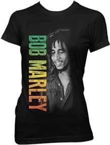 Smile Bob Marley Ladies Tee