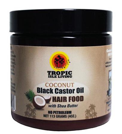 Tropic Isle Coconut Black Castor Oil Hair Food