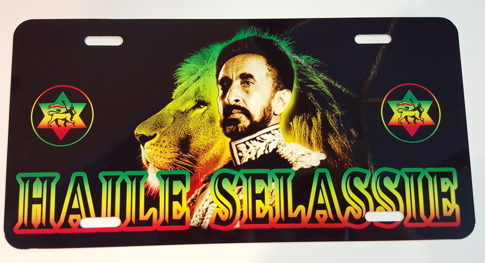 Haile Selassie License Plate