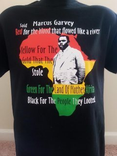 Marcus Garvey (Red, Gold, Green) Afrika T-Shirt