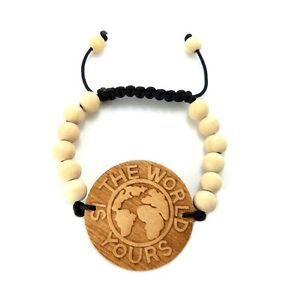 THE WORLD IS YOURS Wooden Bracelet