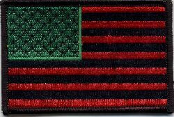Iron on Patch-Afro American Flag