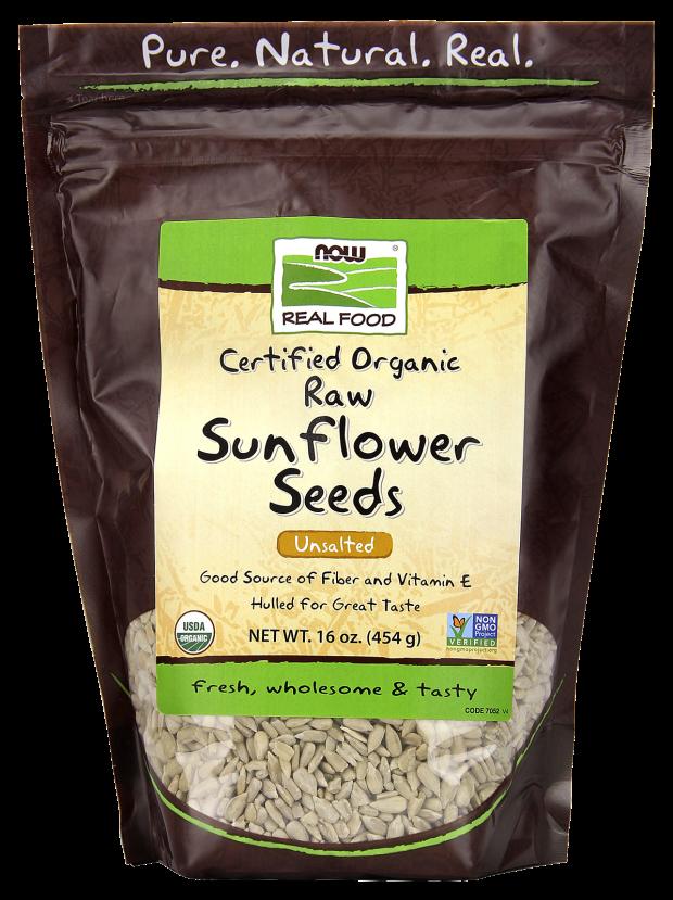 Organic Raw Sunflower Seeds, Unsalted - 16 oz.