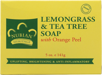 Nubian Heritage Lemongrass & Tea Tree Bar Soap - 1 Case (72 Bars)