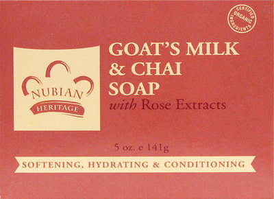 Nubian Heritage Goat's Milk & Chai Bar Soap - 1 Case (72 Bars)