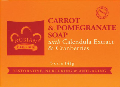 Nubian Heritage Carrot & Pomegranate Bar Soap - 6 Pack
